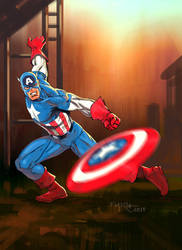 Captain America by fernandomerlo