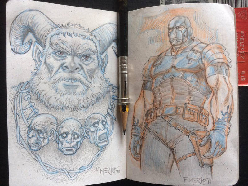 Sketchbook drawings by fernandomerlo