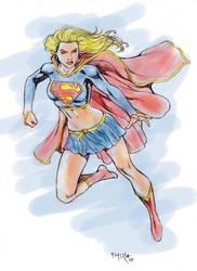 Supergirl Color Sketch by fernandomerlo