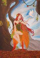 Autumn Fairy by SirenMelodina