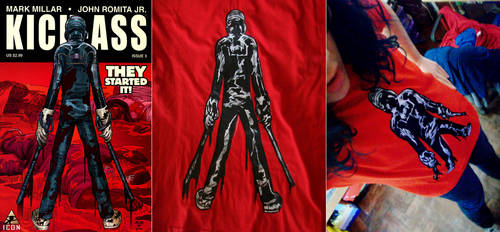 Kick-ass 2xstencil t-shirt. by ChOke-x