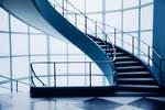 Blue Stairs by bittersweetvenom