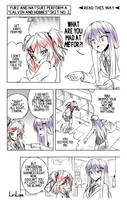 A short DDLC comic: Blame by LiriLias