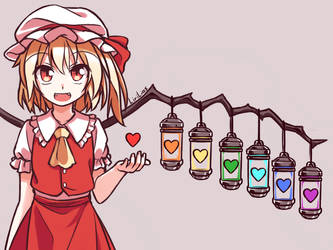 Flandre and Souls by LiriLias