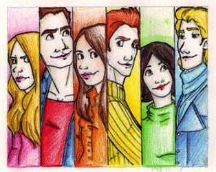 the cullen siblings + bella by Rosalie-Fans