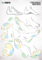 simplified anatomy 12 - feets by mamoonart
