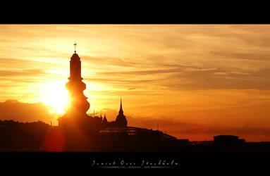 Sunset Over Stockholm by Metalstorm