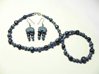 Blue Jewelry Set by MatejCadil