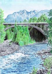 Capilano River by MatejCadil