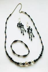 Black Jewelry Set by MatejCadil