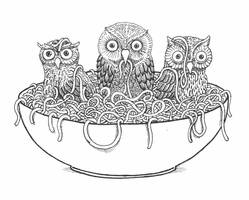 Owls from Noodles by MatejCadil