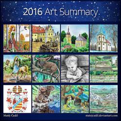 2016 Art Summary by MatejCadil