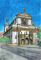 Church of St Ignatius in Prague by MatejCadil