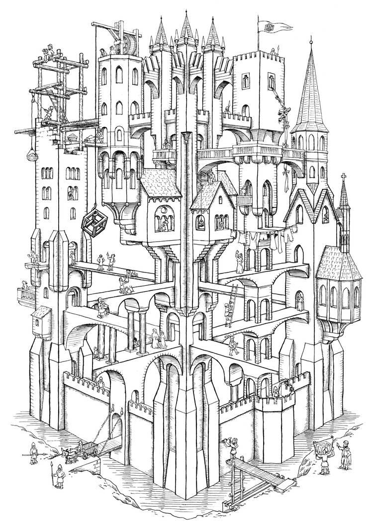 Escher Castle by MatejCadil