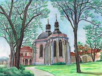 Karlov Church in Prague by MatejCadil