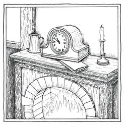 Bilbo's Mantelpiece Clock (Inktober Day 14) by MatejCadil