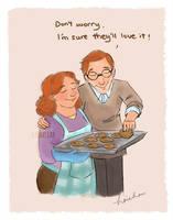 Arthur and Molly Weasley by nahsiah