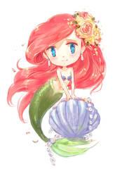 Ariel chibi by MoonSelena