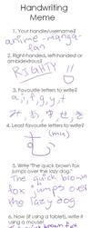 Handwriting Meme by anime-manga-fan