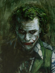 The Joker: Head Detail by vee209