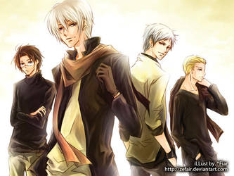 APH :: Boys band by zefiar