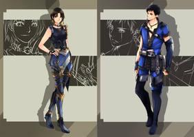 sketch commission - Kegan and Jadiras by zefiar