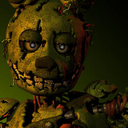 (FNAF C4D) Springtrap icon by MoisoGS