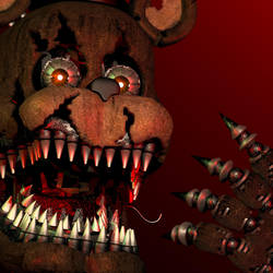(FNAF C4D) Nightmare Freddy icon by MoisoGS