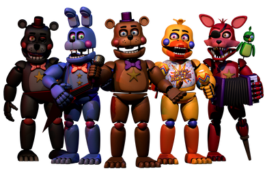 (FNAF C4D) The Rockstars by MoisoGS