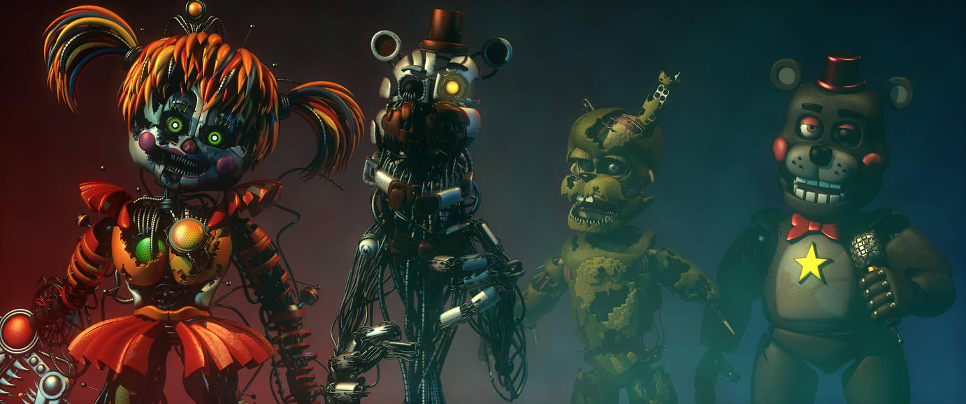 WHAT A BIG HAPPY FAMILY! (FNAF C4D) by MoisoGS