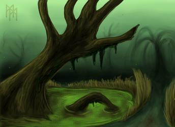 Swamp tree by Kanayoness