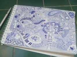 Imagine in Blue by MissSweeda