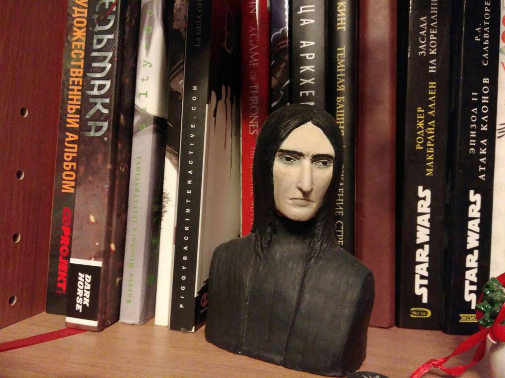 Severus Snape bust by prettyfuzzy