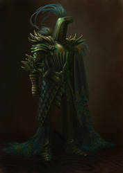 Viridian - the Peacock Knight by BATTLEFAIRIES