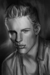 Male Portrait Study by DarkPowerOfMetal