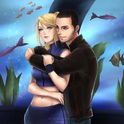 Samus and Shepard Romance VII by Nightingale122