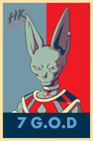 beerus god of destruction poster by Hkartworks99