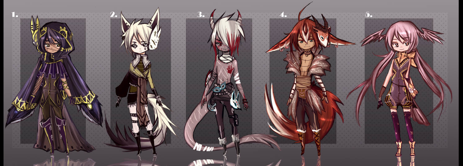 Adopt Auction CLOSED  New Species- Larvemma 01 by Tiffany-Tees