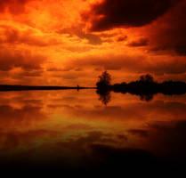 Burning sky. by DekoratyvinisKeksas