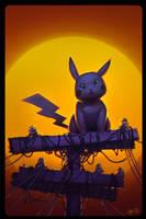 Pikachu Sunset by saarmander