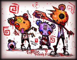 Zombie Teddies by SinclairStrange