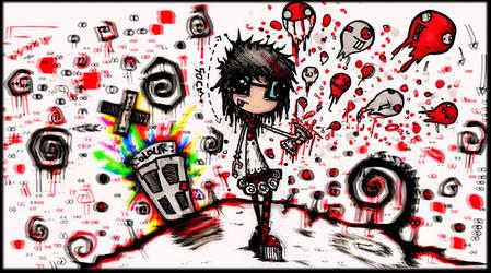 Bloody Skittles by SinclairStrange