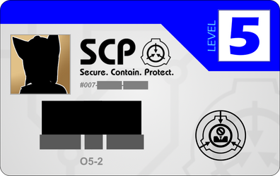 SCP Access card - [DATA EXPUNGED] by SpringsTS