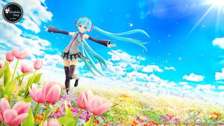 Birthday Song for Miku Wallpaper by kasokuSato
