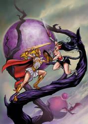 She-Ra versus Catra. by Axel-Gimenez