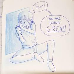 Thank you, boy in blue! by DredaSM