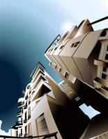 building -vector art by hachidaime