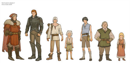 character sketches by Hellstern