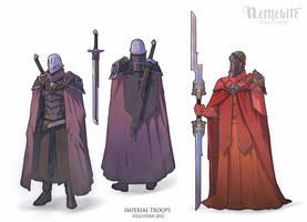 Imperial troops by Hellstern