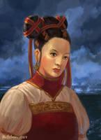 oriental girl by Hellstern